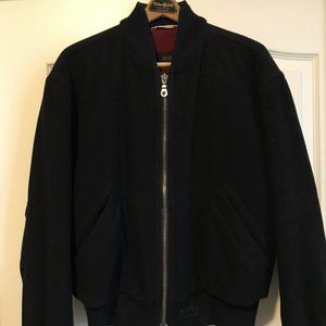 Hugo Boss Vintage Wool Bomber Jacket - Size XL